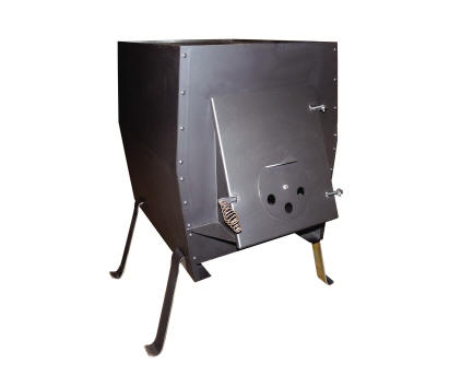 J 1000 cook stove and heater johnson outdoor wood furnaces for Outdoor wood cooking stove